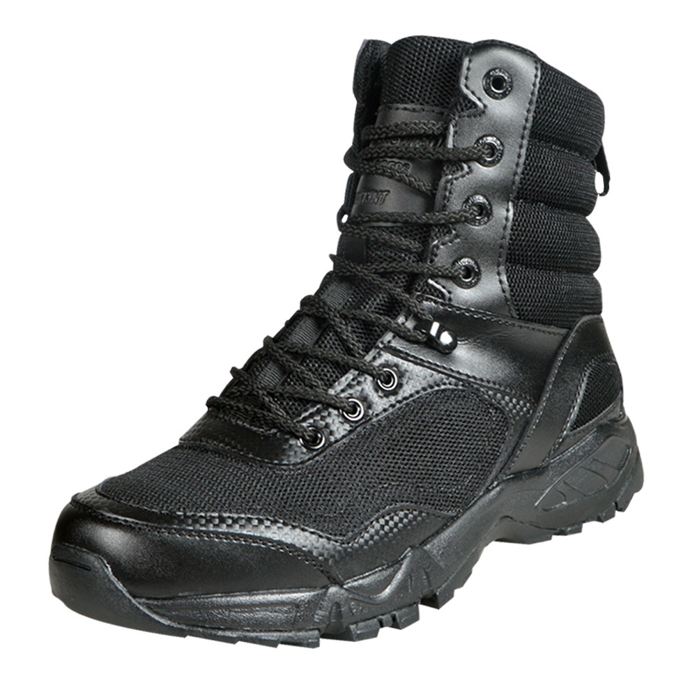 Special Forces Combat Boots Shock Absorption Anti-slip Outdoor Boots Hiking Shoes Tactical La Lian Xue Combat Boots Punched Shee