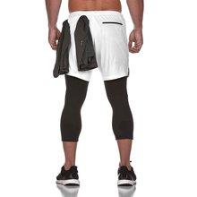 Мужские штаны для бега 2 в 1 мужские брюки быстросохнущие леггинсы