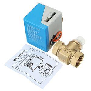 """Image 5 - 3/4 """"robinets darrêt en laiton électriques motorisés 2 fils ca 220V femelle vanne darrêt bidirectionnelle"""