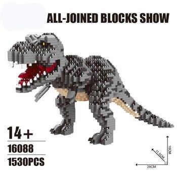 Jurassic World 2 Building Blocks Legoings Dinosaurs Figures Bricks Duplos Tyrannosaurus Rex Park Indominus Assemble Kids Toys jurassic dinosaur park indominus rex diy blocks dinosaurs tyrannosaurus rex tiny models building block kids toys creator animals