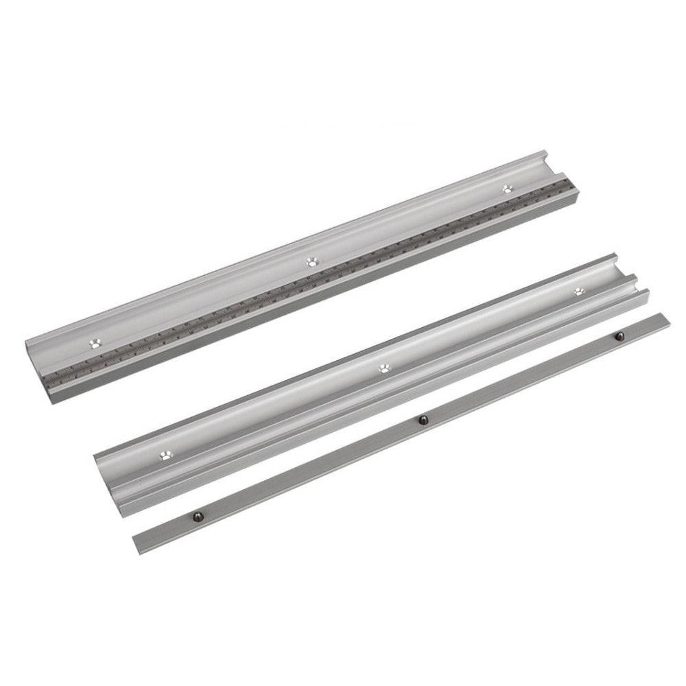 Aluminum Alloy T-Tracks With Scale And Miter Track Stop And T- Slot Miter Bar Track Router Table Saw Woodworking Workbench DIY