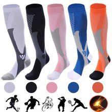 Chaussettes de Compression pour hommes et femmes, meilleures chaussettes athlétiques graduées adaptées à la course à pied, au vol, au voyage, pour stimuler l'endurance, la Circulation et la récupération