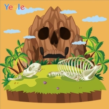 Yeele Halloween Backdrop Mountain Island Skeleton Newborn Baby Shower Portrait Vinyl Photography Background For Photo Studio