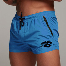 Men's Sport Running Beach Short Board Pants Summer Swim Trunk Pants Quick-Drying With Pocket Male Surfing Shorts GYM Swimwear