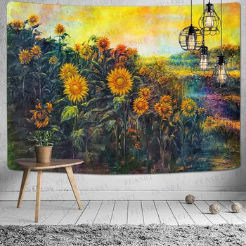 Simsant Mushroom Forest Castle Tapestry Fairytale Trippy Colorful Butterfly Wall Hanging Tapestry for Home Dorm Fantasy Decor 33