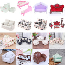 Миниатюрный Кукольный домик, милый диван, подушки, сиденье, Набор стульев для кукол, Детская имитация, мебель для кукольного домика, игрушки ...
