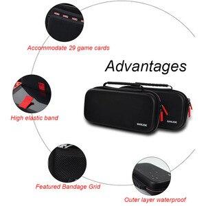 Image 4 - Housses pour à fermeture éclair à coque rigide Portable interrupteur EVA sacs de rangement de transport de protection pour Console NS accessoires cartes de jeu