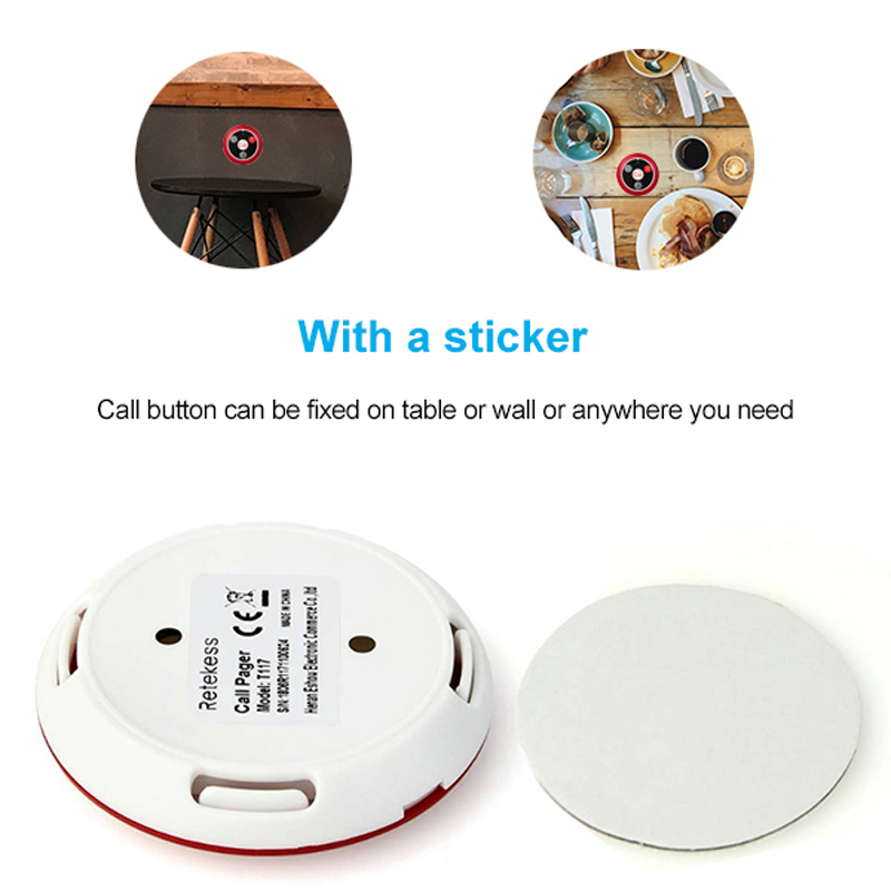 Image 3 - 20pcs T117 Call Transmitter Button + 3pcs Watch Receiver Restaurant Pager Wireless Waiter Calling System Restaurant Equipment-in Pagers from Computer & Office