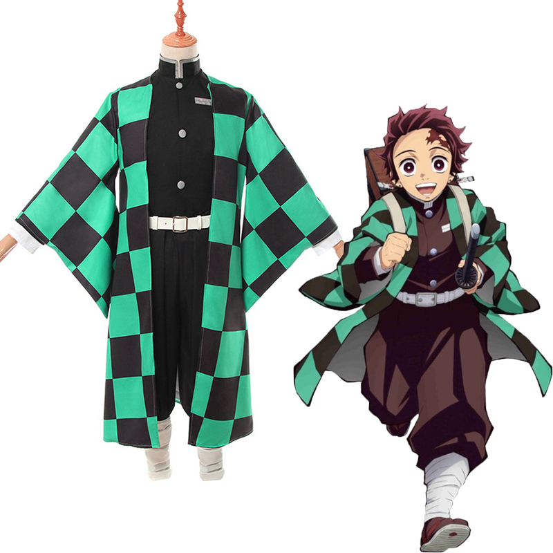Anime Demon Slayer Kimetsu No Yaiba Cosplay Costumes Tanjirou Kamado Cosplay Costume Kimono Cloth Blade Of Demon Costume