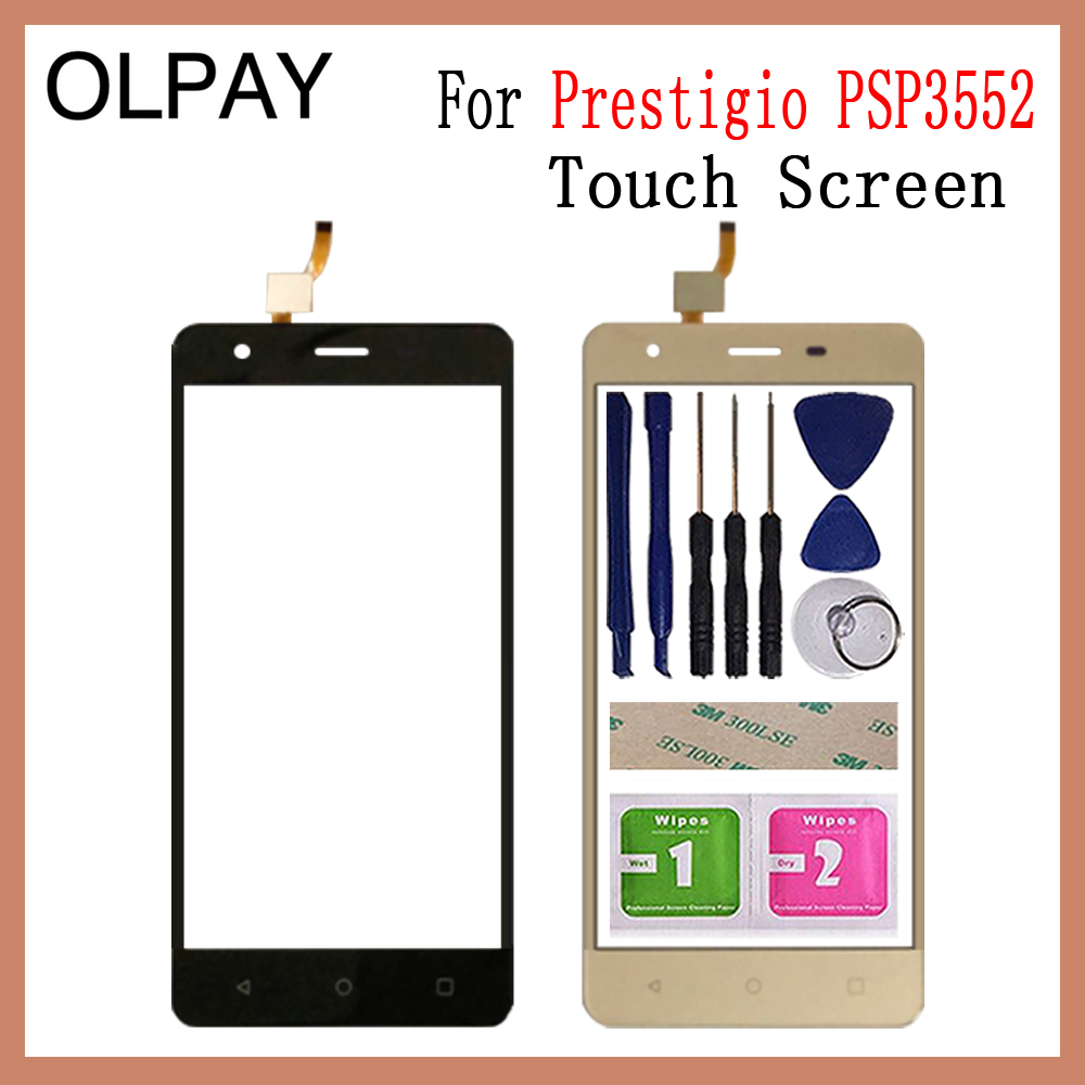 OLPAY 5.5'' New 100% Mobile Phone Touch Screen For Prestigio Muze H3 PSP3552 PSP 3552 DUO Front Glass Touchscreen Sensor Panel