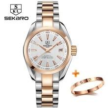 SEKARO Business Luxury Women Watches Steel Waterproof Watch