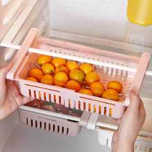 Кухонный Органайзер Регулируемый скалабл рефрижератор шкаф для хранения полка холодильника с морозильной камерой Держатель Выдвижной ящик Органайзер экономии пространства