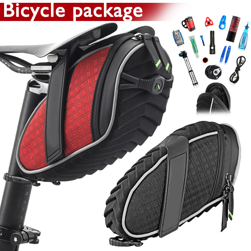 H Rainproof Cycling Rear Seatpost Bag Bicycle Saddle Bag Reflective Bike Bag Shockproof Bicycle Bag MTB Bike Accessories MVI ing in Bicycle Bags Panniers from Sports Entertainment