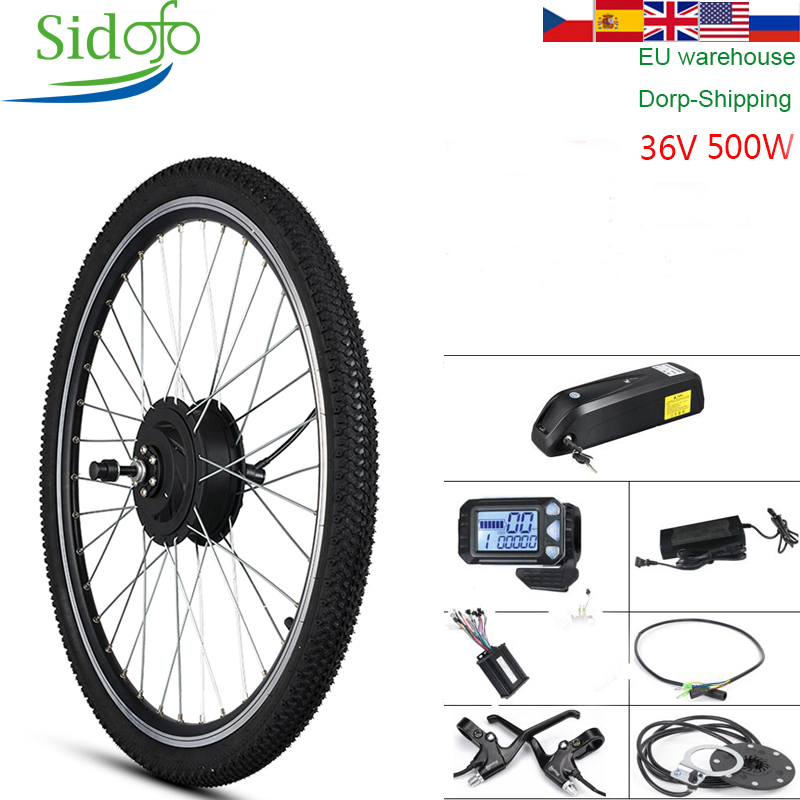 Kit de Conversion de vélo électrique avec batterie 36V 500W MXUS engrenage moteur à entraînement Direct connecteur étanche moteur de moyeu de roue