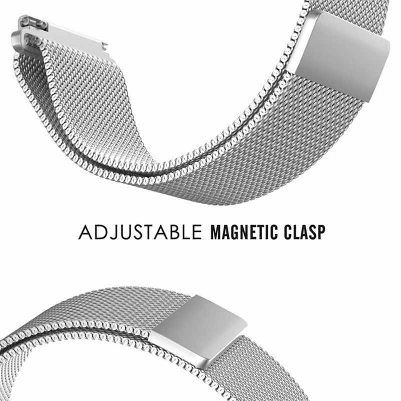 ממילאנו לולאה להקת עבור Amazfit ביפ S רצועת נירוסטה Samsung galaxy שעון 46mm ממילאנו להקות 20mm 22mm 18mm 24mm 23mm