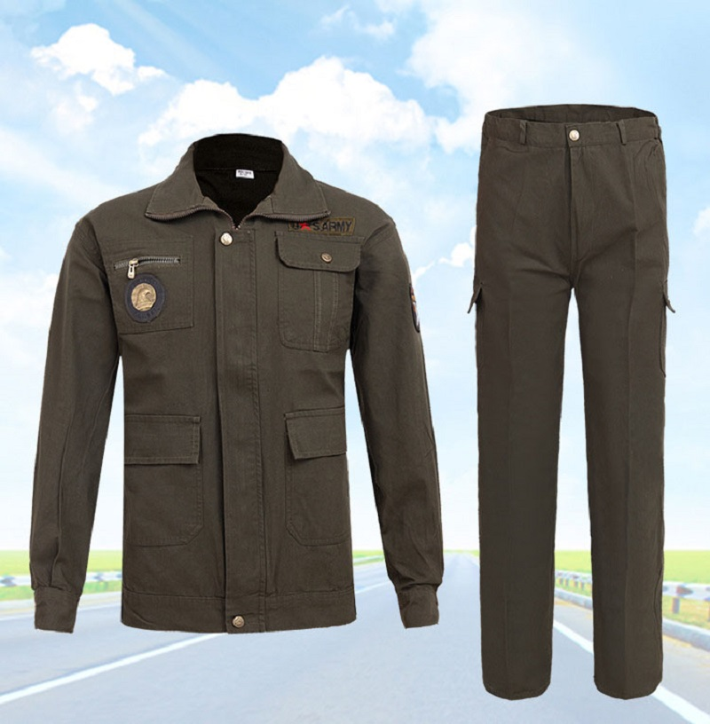 Men Work Clothing Sets Welder Uniforms Wear-resistant Outdoor Clothes Long Sleeve Jackets+Pants Male Working Factory Uniforms