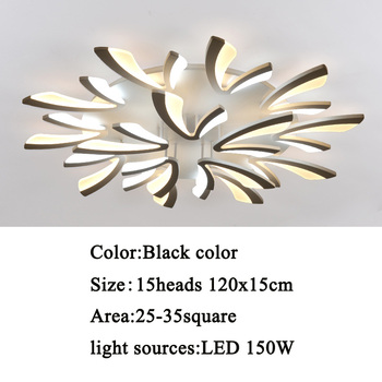Led ceiling light for living room bedroom White/Black Simple Plafond led ceiling lamp home lighting fixtures AC90-260V 16