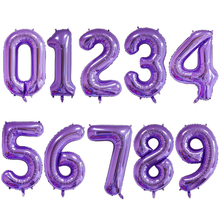 Lavender 40 Inch Purple Large Digital Aluminum Balloon Child Birthday Party Anniversary Celebration Decoration