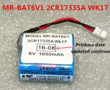 2 pçs original novo MR-BAT6V1 2cr17335a wk17 6v plc bateria de lítio com plugues/conectores frete grátis