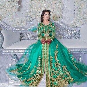 2020 изумрудно-зеленое мусульманское Формальное вечернее платье с длинными рукавами abaya Дизайн Дубай турецкое вечернее платье марокканский ...