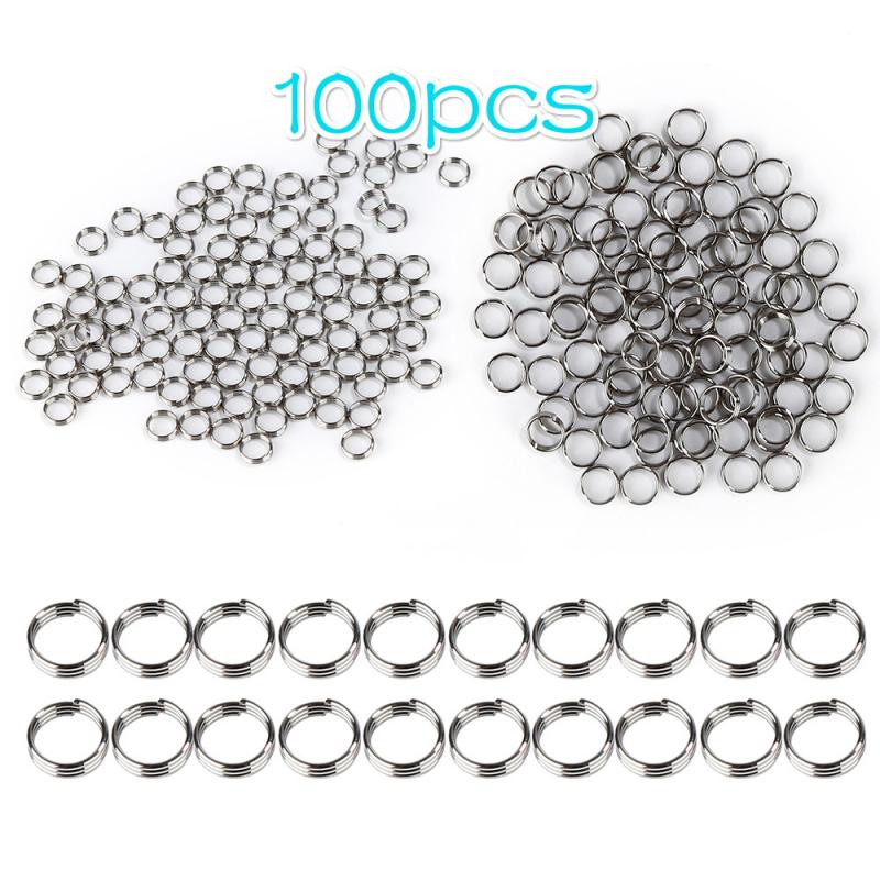 100Pcs Professional Silver Dart Shaft Stainless Steel Ring Round Rings Set Dart Accessories For Dardos Dartboard Games TXTB1