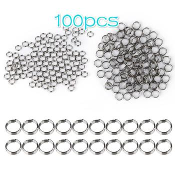 100Pcs Professional Silver Dart Shaft Stainless Steel Ring Round Rings Set Dart Accessories For Dardos Dartboard Games TXTB1 image