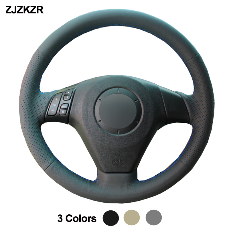 Car Auto Steering-Wheel Cover For Mazda 3 Axela <font><b>2004</b></font> - 2009 Mazda <font><b>5</b></font> <font><b>2004</b></font> - 2010 Mazda 6 Atenza MPV Braid Volant 2005 2006 2007 image