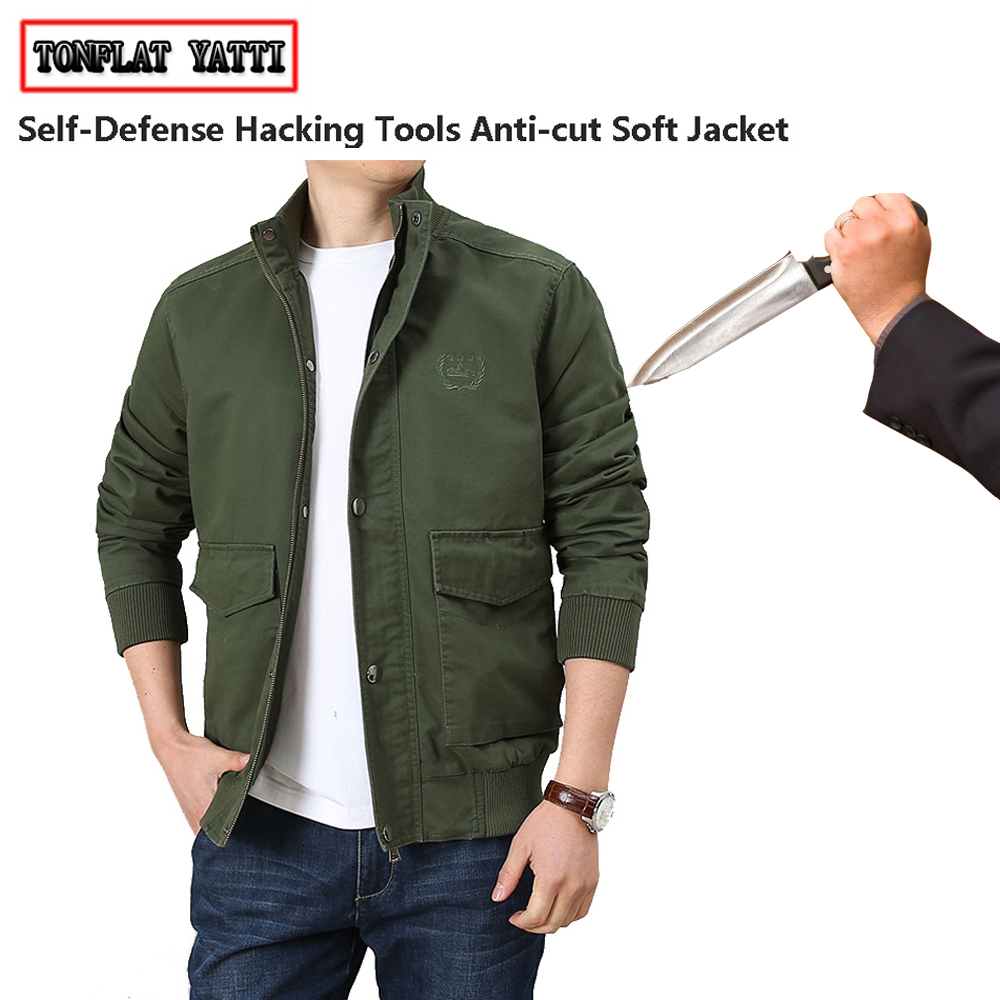 New 2020 Anti-cut And Anti-stab Male Jacket Casual Fashion Safety Self-defense Swat Fbi Police Extensible Defensa Clothing 4XL