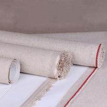 Toile vierge en lin mélangé pour peinture à l'huile, couche de haute qualité, 1m par rouleau, largeur 28/38/48/58