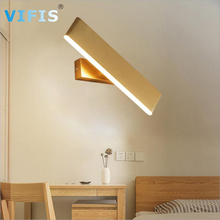 Bedroom 6W LED Wall Light indoor wall lamps rotation 360° Modern Wall Sconce for Bedside Living Room hallway Gold AC85-265V
