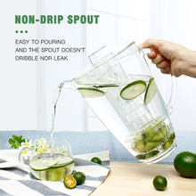 New Plastic 2.8L Clear Juice Water Pitcher Kettles Beverage Serving Pot Dispenser Ice Holder Water Pot Bar Drinkware Kitchen Too(China)