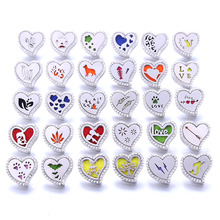 Boom Life Aromatherapy Heart Snap Buttons Perfume Locket Magnetic Stainless Steel Essential Oil Diffuser Jewelry