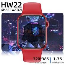 Смарт-часы 2021 HW22, Смарт-часы с диагональю 1,75 дюйма, Bluetooth, 44 мм, часы reloj, часы PK iwo 12 pro w46 w26 hw12 hw16 W34 AK76