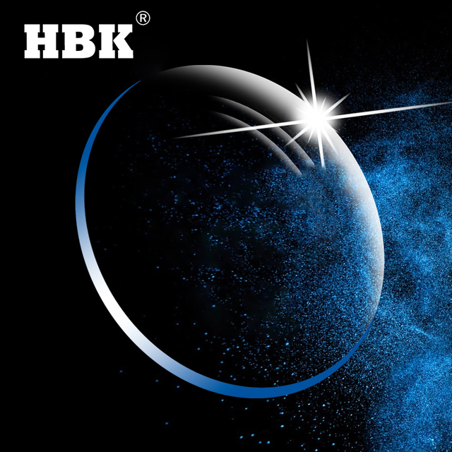 HBK Anti Blue Light Series 1.56 1.61 1.67 GREEN EMI Prescription Resin Aspheric Glasses Lenses Myopia Hyperopia Presbyopia Lens