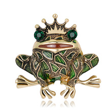Fashion personality frog king brooch express sale ebay hot selling creative 100 pieces of accessories in stock