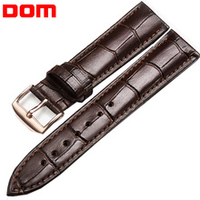 Black Brown Watchband Waterproof Interchangeable Band Watch Stainless Steel Buckle HK Calfskin Genuine Leather Watch Strap все цены