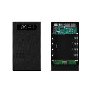 Image 3 - איחה בשילוב DIY 18650 סוללה מקרה טעינה אלחוטי כוח בנק פגז נייד חיצוני תיבת Powerbank מגן LCD תצוגה