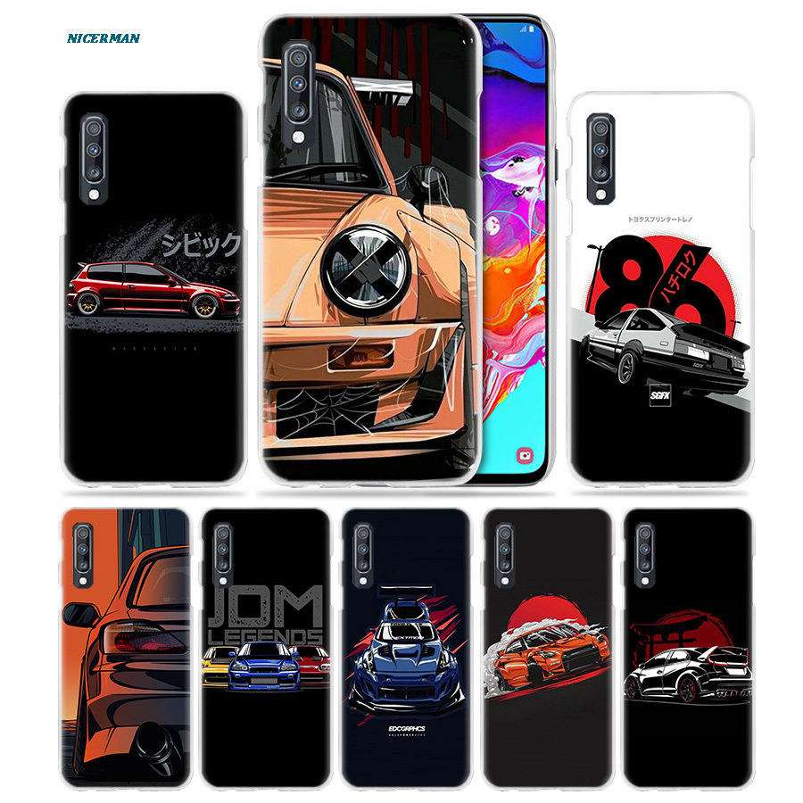 Cool Sports Car Comic <font><b>Case</b></font> for <font><b>Samsung</b></font> <font><b>Galaxy</b></font> A50 A70 A20e A60 A40 A30 A20 A10 <font><b>A8</b></font> A6 Plus A9 A7 2018 Hard PC <font><b>Phone</b></font> Coque Cover image