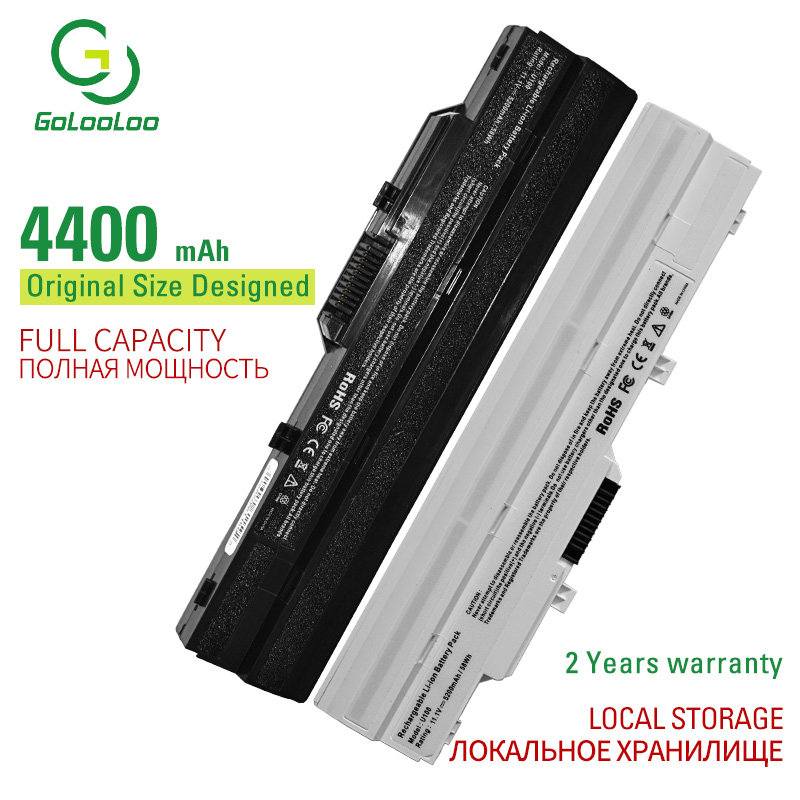 Golooloo 6 Cells Laptop Battery For MSI U100W-085NL U100X Wind MS-N011 Wind U100  U100X U90 U90X BTY-S11 BTY-S12 TX2-RTL8187SE