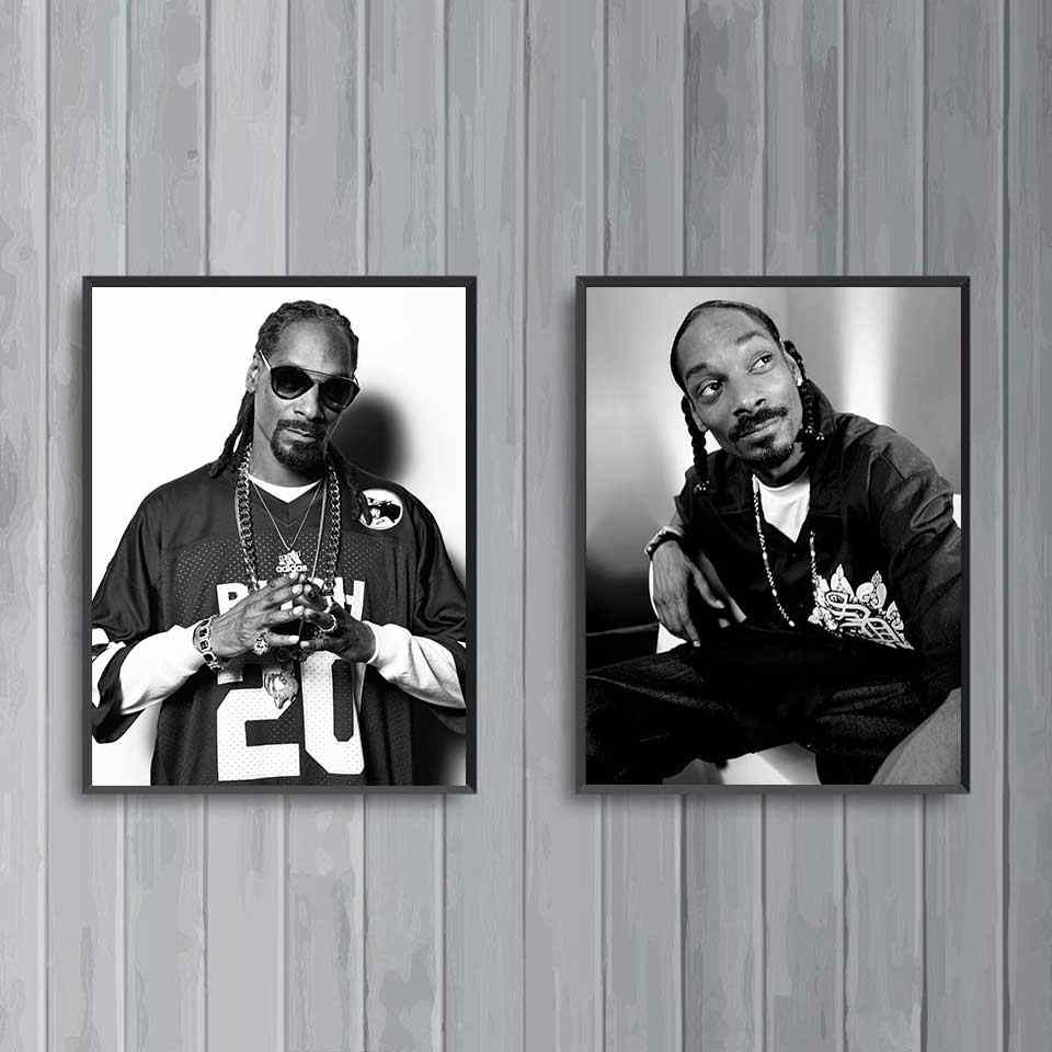 Snoop Dogg Poster Singer Star Music Prints Wall Art Gangsta Rap Hip Hop Rapper Posters Wall Pictures For Living Room Home Decor Painting Calligraphy Aliexpress