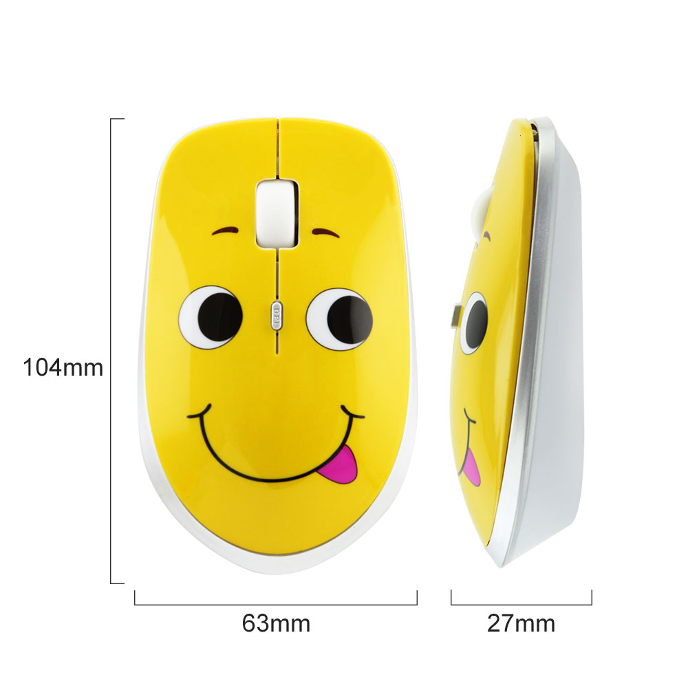 CHYI Cute Wireless Mini Silent Computer Mouse Ultra Thin Usb Optical PC Mause Ergonomic Creative 3d