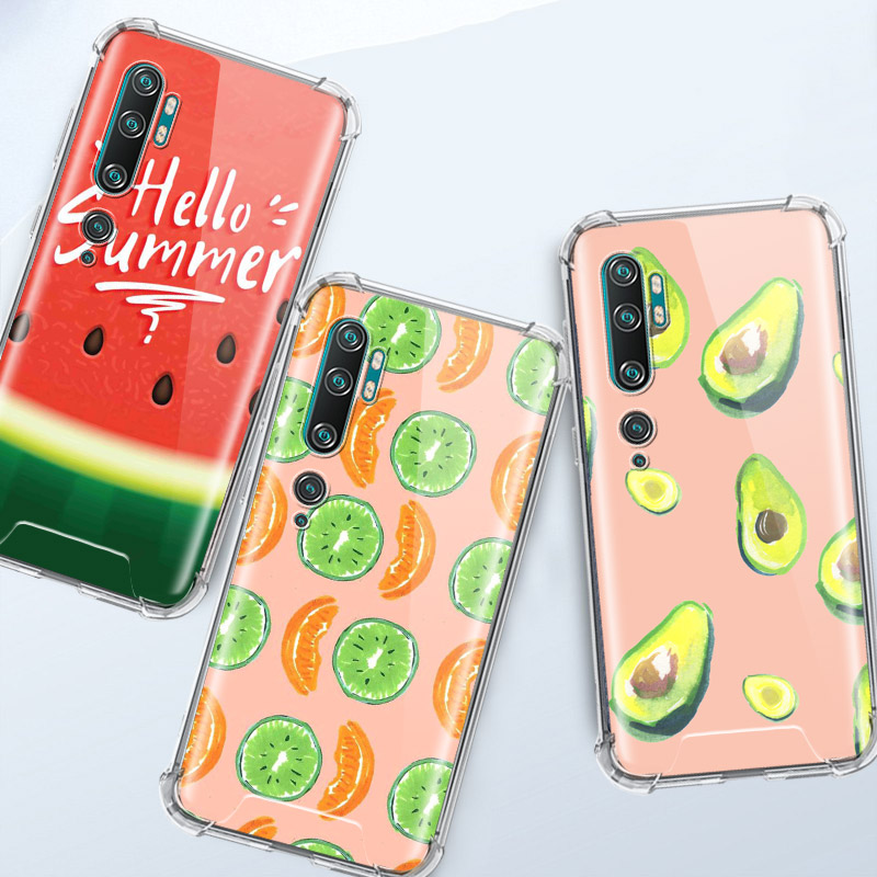 Pretty Summer Fruits Watermelon Case For Xiaomi Mi Note 10 Pro 5G 9T A3 A2 8 Lite CC9 CC9E Poco X2 F1 Airbag Anti Phone Shell