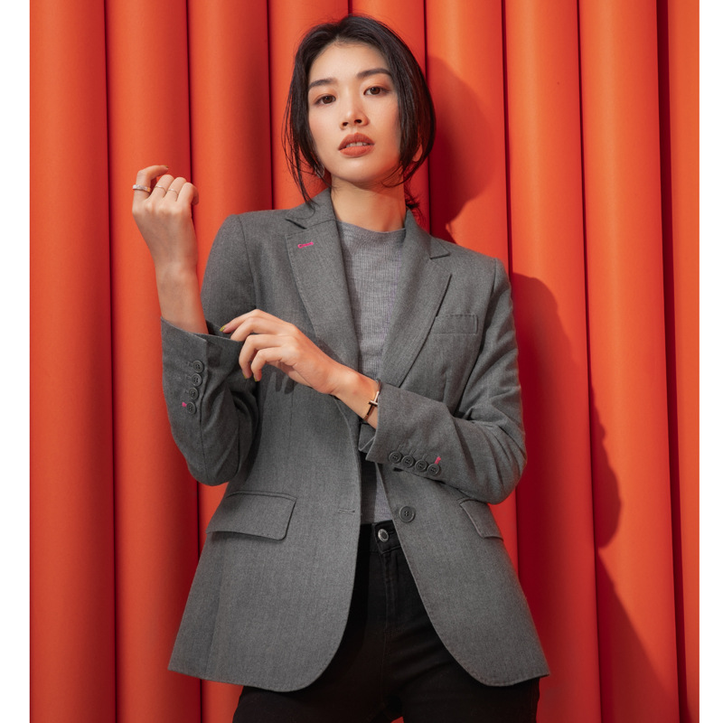 2019 Fall New Commuter Coat Woman High-end Custom Wool Small Suit Single Breasted Notched Women Jackets and Coats Suit
