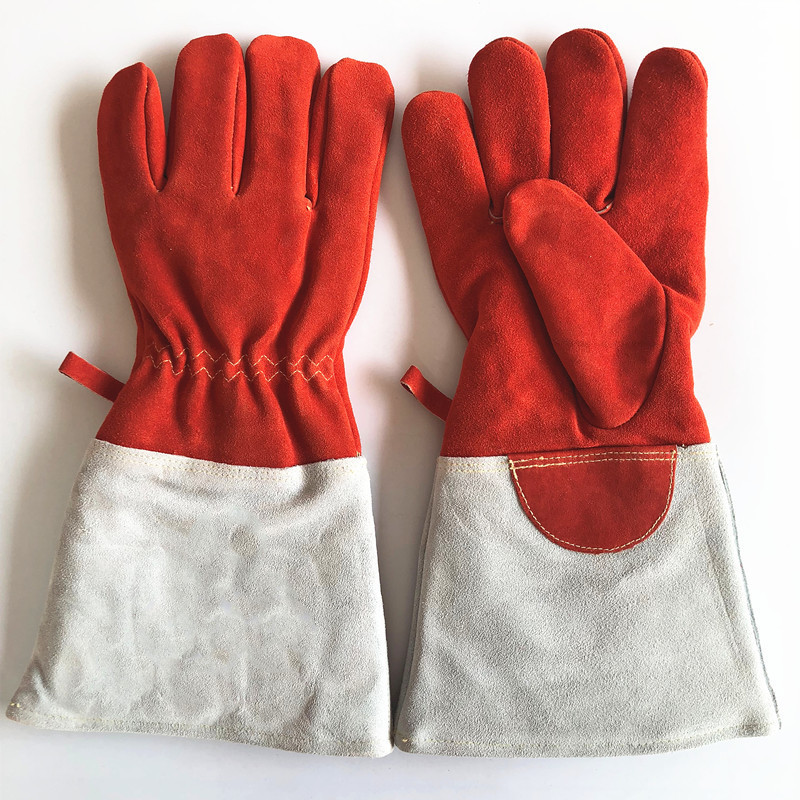 High temperature resistant gloves two layer cowhide gloves wear resistant and durable anti burn welder|Safety Gloves| |  - title=