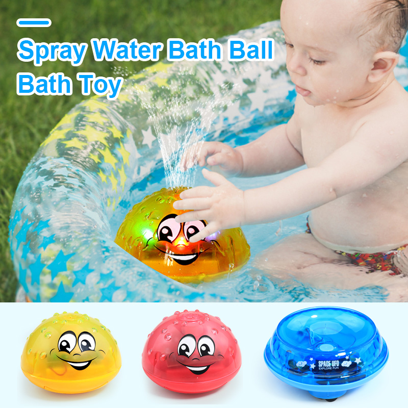 Surmmer Toys Spray Water Ball LED Lights Foat  Rotating Shower Outdoor Children Pool Party Games Toy For Kids Bath Toy