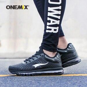 Image 4 - ONEMIX кожаные беговые кроссовки для мужчин, тренды, атлетические кроссовки для прогулок на открытом воздухе, кроссовки на воздушной подушке, спортивные беговые треккинговые кроссовки