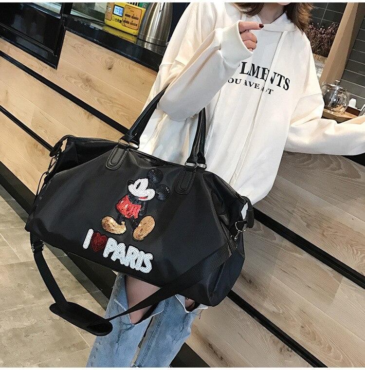 Disney moda bolsa de viagem saco de
