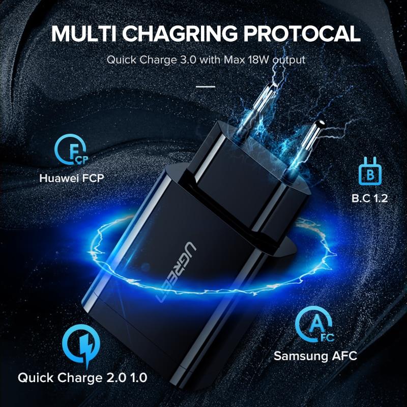 Mbushës i shpejtë me USB Ugreen 3.0 QC 18W USB Mbushës QC3.0 - Aksesorë dhe pjesë të telefonit celular - Foto 3