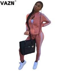 VAZN-Conjunto de 2 piezas formado por camiseta y pantalón largo para mujer, de alta calidad, sin energía, informal, para uso diario, para jóvenes, 2021