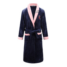 Большой размер 3XL домашняя одежда для мужчин халат Фланелевое кимоно банное платье интимное белье коралловый флис зима новая одежда для сна ночная рубашка халат